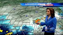 When will scattered showers, thunderstorms end?