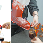Amazon is selling a Christmas wine stocking that holds two litres of booze