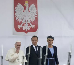 Pope says Europe attacks show 'world at war', religion not to blame