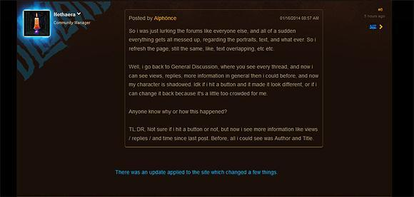 Official forums receive minor facelift