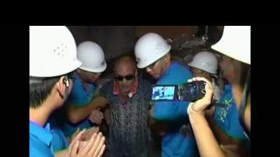 Workers freed after tunnel collapse