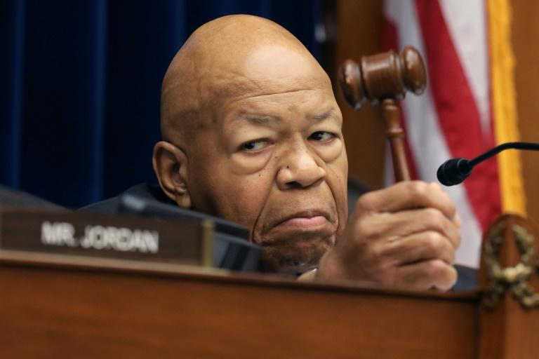 Representative Elijah Cummings was the subject of a series of critical tweets by President Donald Trump (AFP Photo/CHIP SOMODEVILLA)