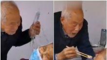 87-Year-Old Man Feeding Coronavirus-Infected Wife in Hospital is Breaking Hearts