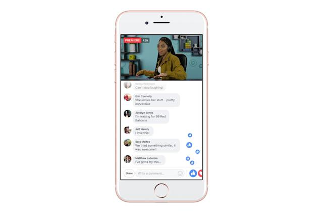 Facebook lets creators turn video premieres into live events