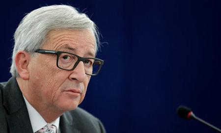 European Commission President Juncker attends a debate on the priorities of the incoming Malta Presidency of the EU for the next six months at the European Parliament in Strasbourg