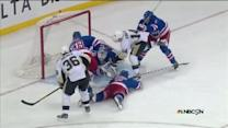 Chris Kunitz jams it past Henrik Lundqvist