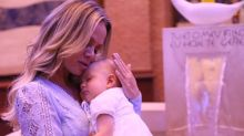 Filha de Eliana é batizada pelo padre Fábio de Melo em Aparecida