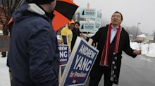 Andrew Yang, trailing in New Hampshire primary results, ends campaign