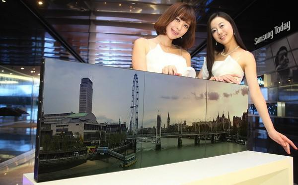 Samsung enters advertising market with small-bezel and transparent displays