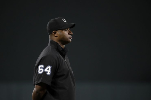 MLB umpire Alan Porter got into a disagreement with Nats star Daniel Murphy. (AP)