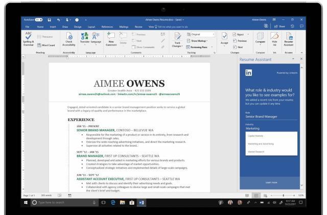Microsoft releases its LinkedIn resume helper for Word