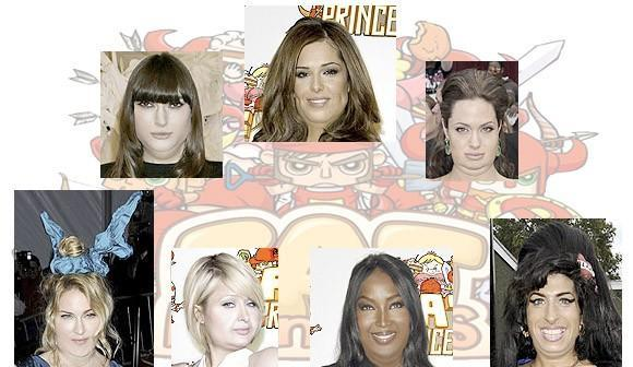 Celebrities digitally fattened up for Fat Princess