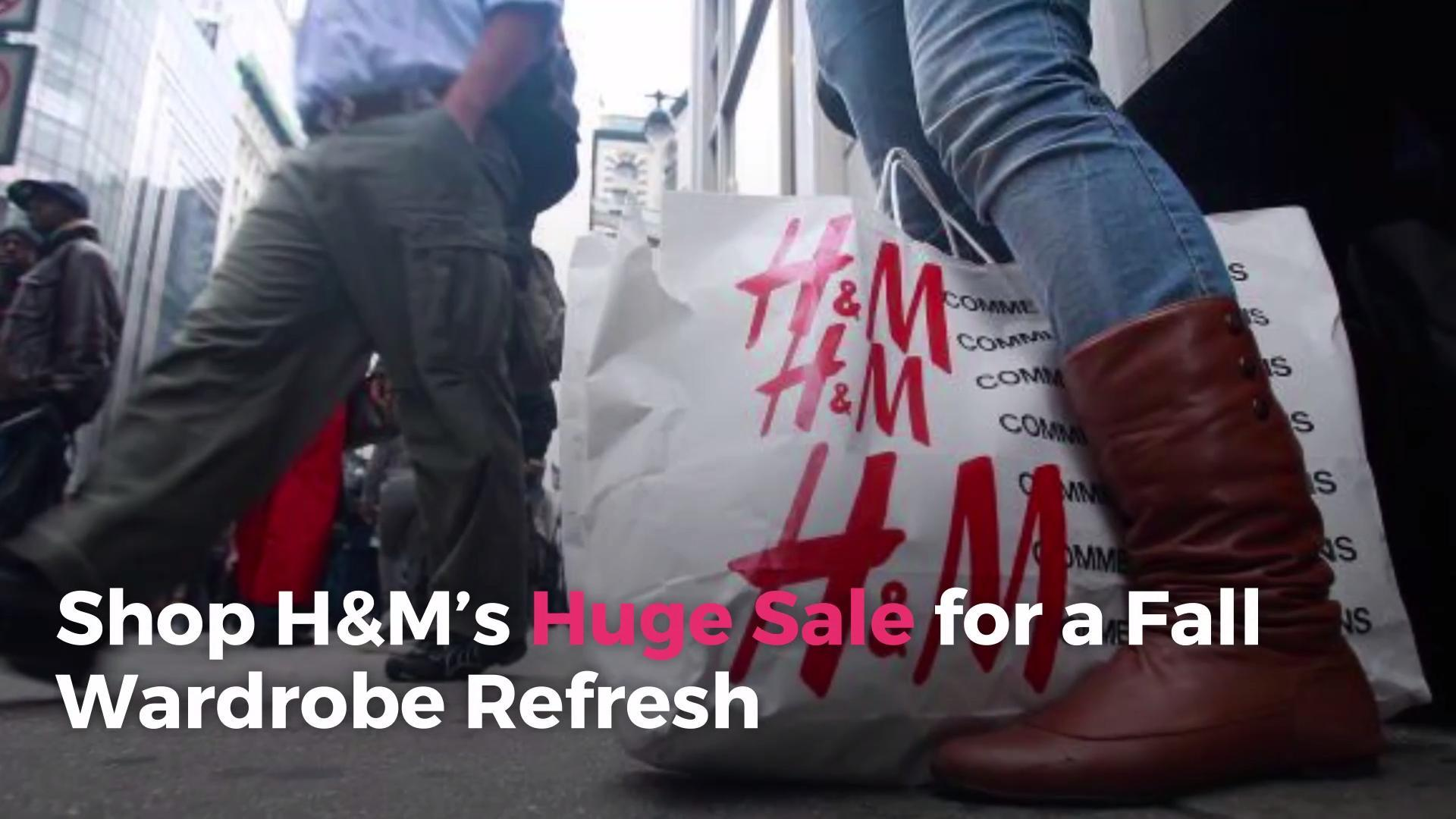 shop h m s huge sale for a fall wardrobe refresh video. Black Bedroom Furniture Sets. Home Design Ideas