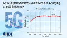IDT Announces World's First 30W Wireless Charging Chipset