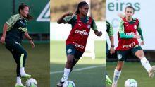 Atletas do Palmeiras comemoram convocação para Seleção
