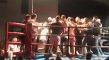 Shocking brawl breaks out at Sydney fight night