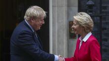 Boris Johnson, Ursula Von Der LeyenSet Out Rival Red Lines for Post-Brexit