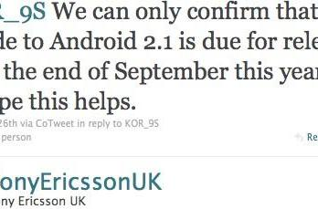 Xperia X10 family's Android 2.1 upgrade coming by end of September, says Sony Ericsson UK