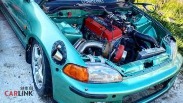 「沒屁股」的S2000!Honda Civic EG「F20C Turbo+後驅」全戰力改造