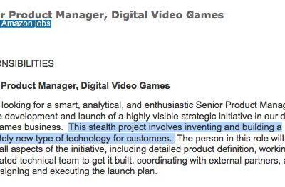 Amazon job posting hints at 'completely new' video game technology