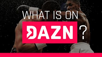 What sports are live-streamed on DAZN?