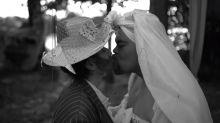 Babu Santana revive Bubu e vira noiva em arraiá caseiro