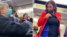 Bizarre video captures woman's eerie screams on packed plane