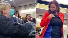 Bizarre video captures woman's eerie screams on packed plane