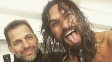 Jason Momoa brought a lot of beer to the Justice League wrap party