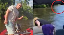 Clue hidden in background of video leads to 'amazing' find in murky river