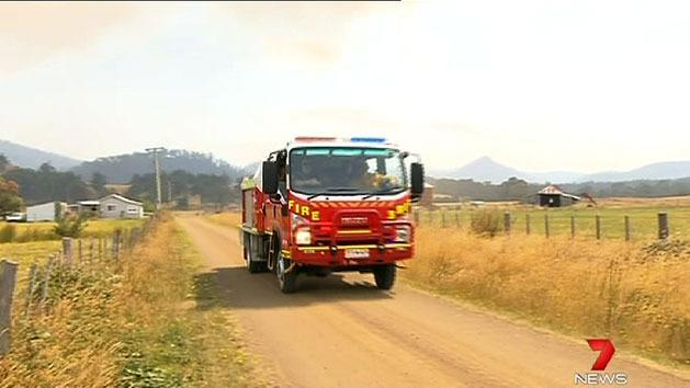 Firies welcome cool change in TAS