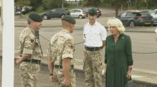 Camilla visits 1st Battalion, The Rifles