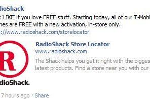 Radio Shack celebrates T-Mobile's departure by giving its phones away