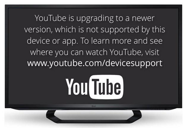 YouTube app will stop working on older smart TVs and iOS devices