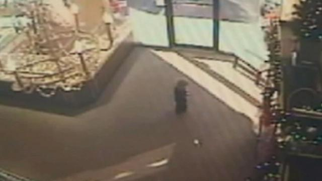 Video shows toddler's close call after car crashes through store
