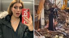Backlash over model's earthquake photoshoot on top of debris