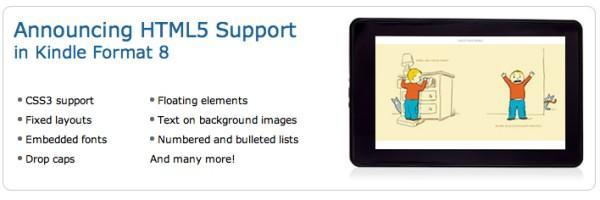 Amazon's new e-book format brings HTML5 support to your Kindle library
