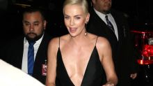 'Whoops': Charlize Theron's wardrobe malfunction caught on camera