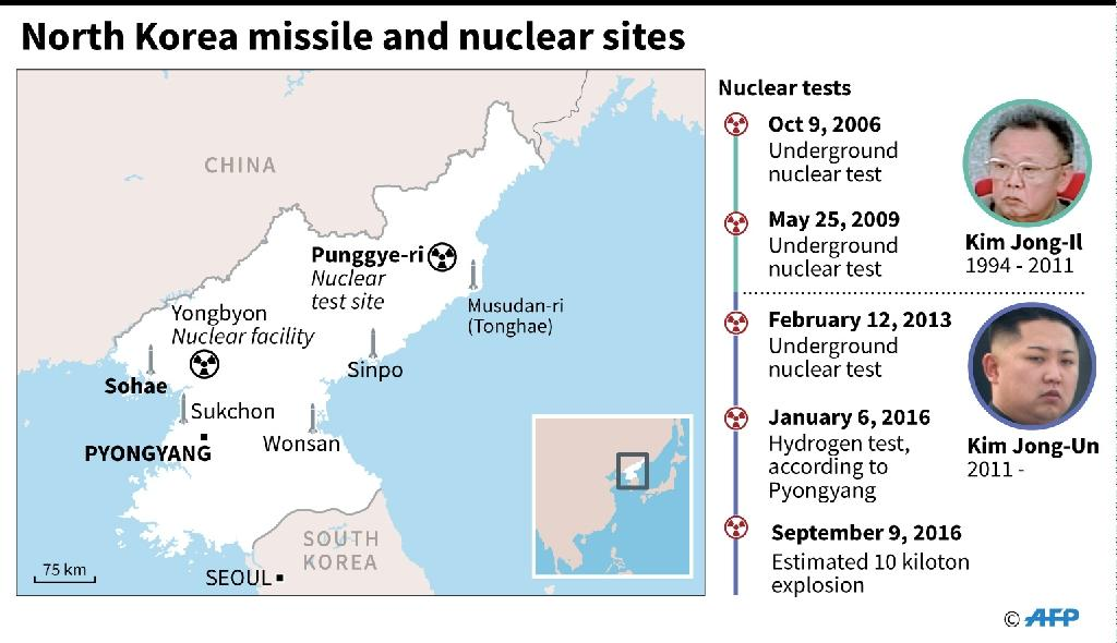 North Korea missile and nuclear sites (AFP Photo/AFP)
