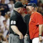 Red Sox manager John Farrell and umpire Bill Miller are not on good terms
