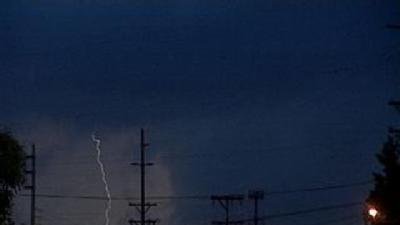 Raw Video: Storm Moves Through East Louisville