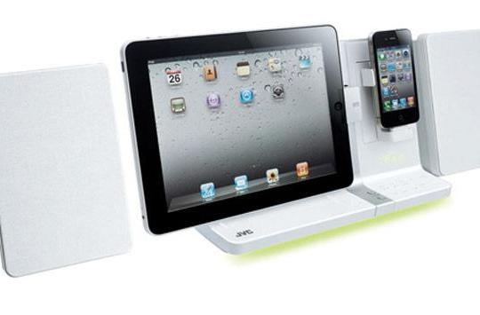 JVC's UX-VJ3 and UX-VJ5 speaker docks play (elegant) host to iPad and iPhone