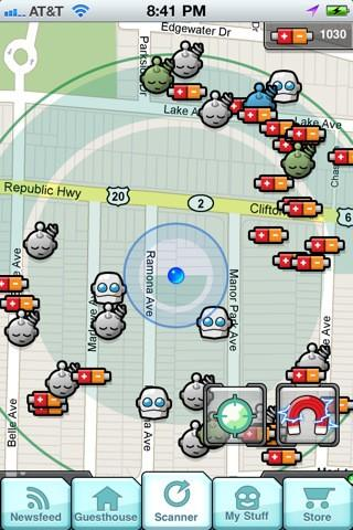 Dokobots game for iOS brings together the inevitable: robots and geolocation