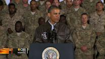 President Obama meets with troops in Afghanistan
