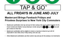 Mastercard Brings Fareback Fridays and Priceless Surprises to New York City Commuters