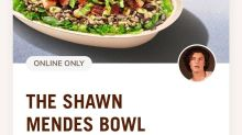 Chipotle is the latest fast food brand to introduce a celebrity collaboration with the Shawn Mendes Bowl