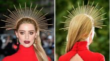 Amber Heard's Met Gala Headband Was $32 And Made Of Zip Ties