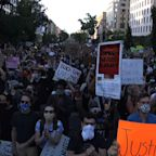 Protest near White House stays calm after curfew
