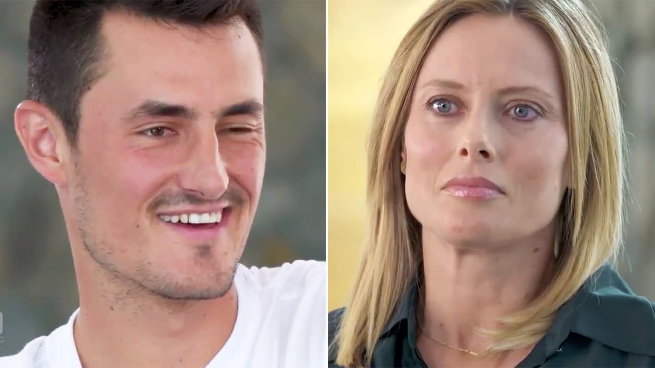 Bernard Tomic slammed for 'creepy' act during TV interview