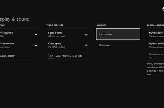 Xbox One's May update to add audio options for apps, chat